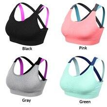 VEQKING Sport Shirt Women Running Sport Bra Stitching Color Quick Dry Fitness T-shirt Gym Shirt Yoga Sports Bra Top for Women