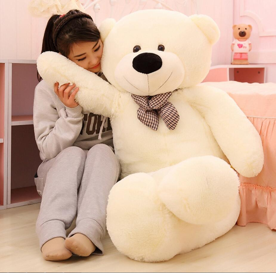 wholesale200CM Creative High quality teddy bear doll tie teddy bear plush toy plush Baby Doll toys For kids Birthday Gift toys 1pcs large size 120cm teddy bear plush toys bear 4 colors high quality kisd toys bear doll lovers christmas gifts birthday gift
