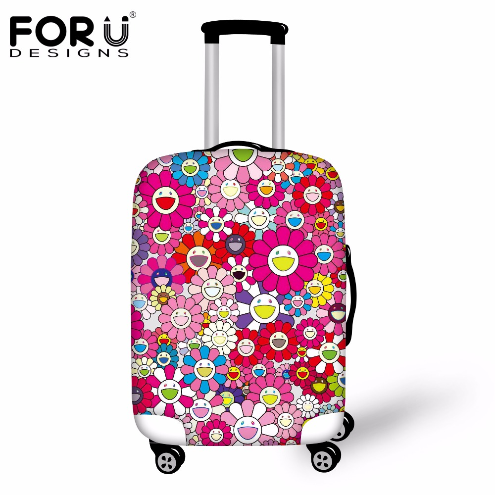 FORUDESIGNS Cartoon Elastic Luggage Protective Covers Spandex Waterproof Dustproof Cover For 18-30 Inch Suitcase Case Rain Cover