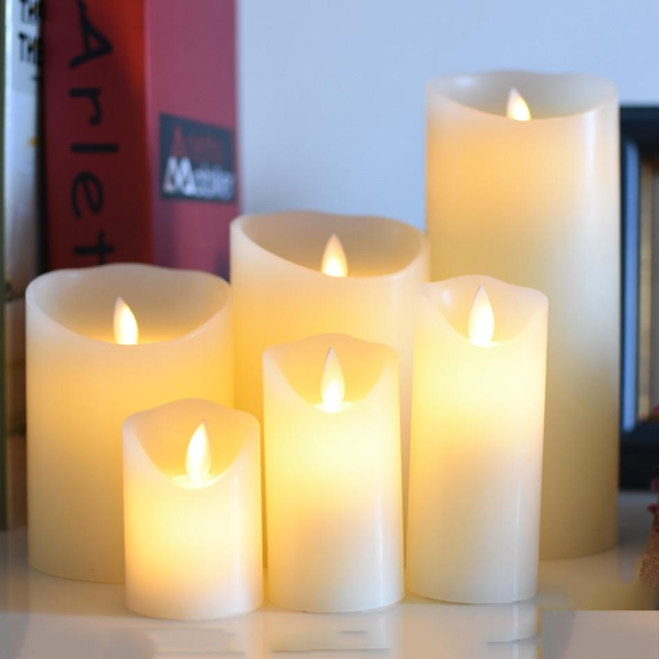 Funzionamento a batteria led candela fatta da cera di paraffina, cera senza fiamma della lampada della candela per Halloween, Natale decorativo, decorazione di cerimonia nuziale