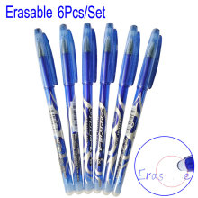0.5mm 6pcs/set Erasable Pen Blue/Black/Red Refill Ink Gel 3 Colors Avaliable for Childrens Gift Office Student