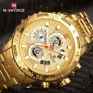 Image 4 - NAVIFORCE Men Watches Waterproof Stainless Steel Quartz Watch Male Chronograph Military Clock Wrist watch Relogio Masculino