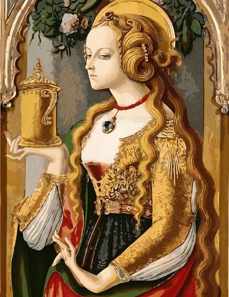 Piktura me figura Emily Home Dekorimi pa kornizë Piktura e pikturës - Dekor në shtëpi - Foto 3