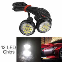 2pcs Waterproof 12V 15W 22mm 12 LED Eagle Eye Car Fog Lamp Bulb Auto DRL Daytime Reversing Backup Parking Signal Light