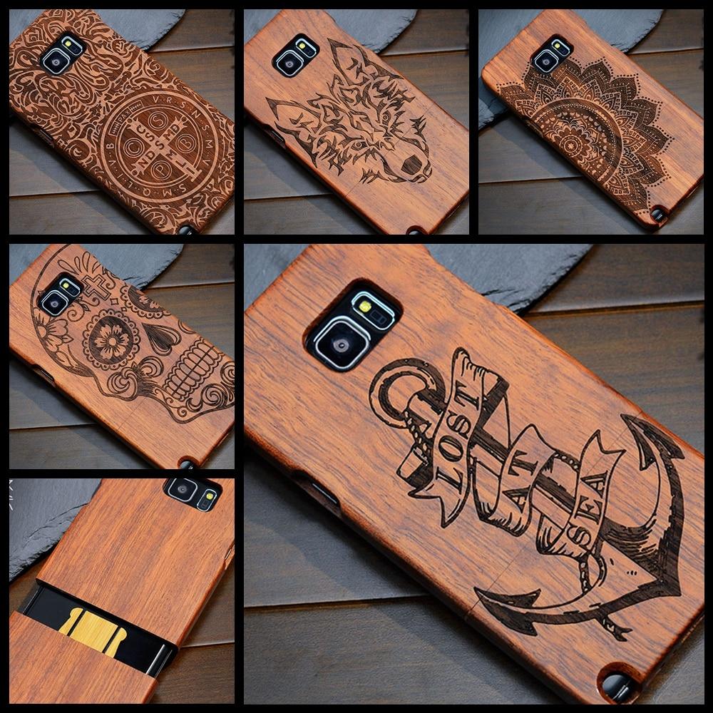 Anchor Pirate Totem Luxury Bamboo Natural Real Wood <font><b>Phone</b></font> <font><b>Case</b></font> for Samsung Galaxy S7edge S6 edge Plus S5 <font><b>Note</b></font> 7 5 <font><b>4</b></font> 3 Cover