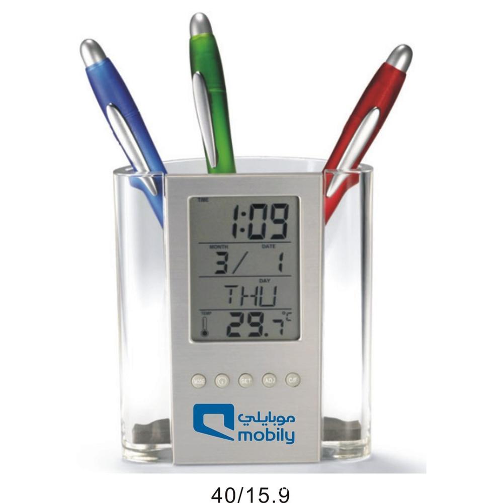 Aliexpress.com : Buy Clock Digital Watch Pen case Electronic Desk ...
