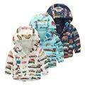 Baby boy chaqueta al aire libre de 2016 del resorte de los niños ropa de niño con capucha ropa de abrigo chico rompevientos