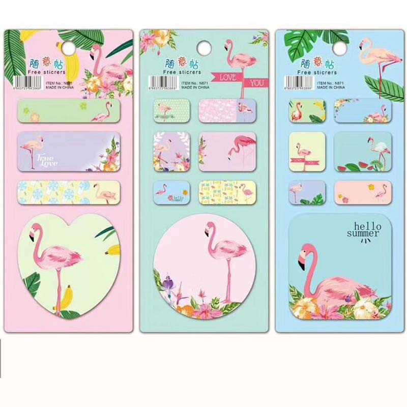 Flamingo N Times Memo Pad Cartoon Unicorn Cactus Sticky Notes Notepad Bookmark Stationery Stickers Gift School Supplies