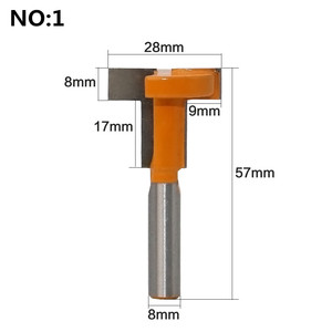 """Image 3 - 1 PC 8mm Shank """"T"""" Jointing และ Slotting เครื่องตัด T Track Slotting & T  ช่องใส่ไม้ Router Bit Milling Cutters สำหรับไม้"""
