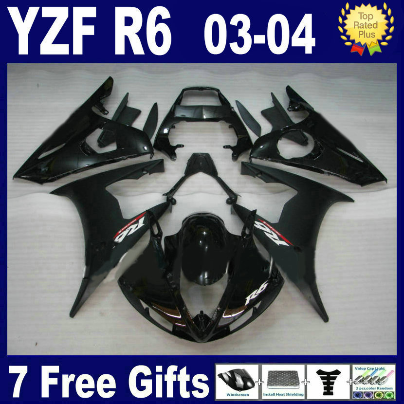 Top quality fairing kits For Yamaha YZFR6 03 04 05 matt black plastics 2003 2004 2005 YZF R6 R bodywork aftermarket fairings par mfs motor motorcycle part front rear brake discs rotor for yamaha yzf r6 2003 2004 2005 yzfr6 03 04 05 gold
