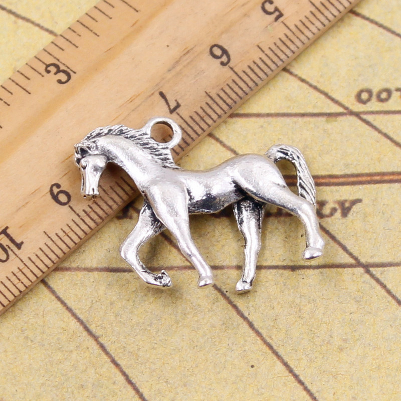 10pcs Charms walking horse 32*27mm Tibetan Silver Plated Pendants Antique Jewelry Making DIY Handmade Craft