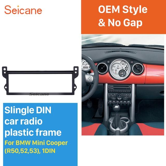 Seicane 1 Din Car Radio Fascia Panel Frame Cover Kit for BMW Mini