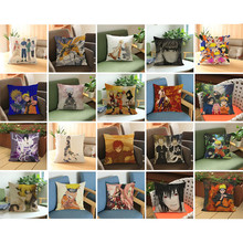 Anime Manga Naruto Throw Pillow Case Sofa Seat Bedding Cushion Cover