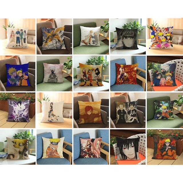 Prime Free Shipping Anime Manga Naruto Throw Pillow Case 45 45Cm Pillow Case Sofa Seat Bedding Cushion Cover Almofadas Machost Co Dining Chair Design Ideas Machostcouk