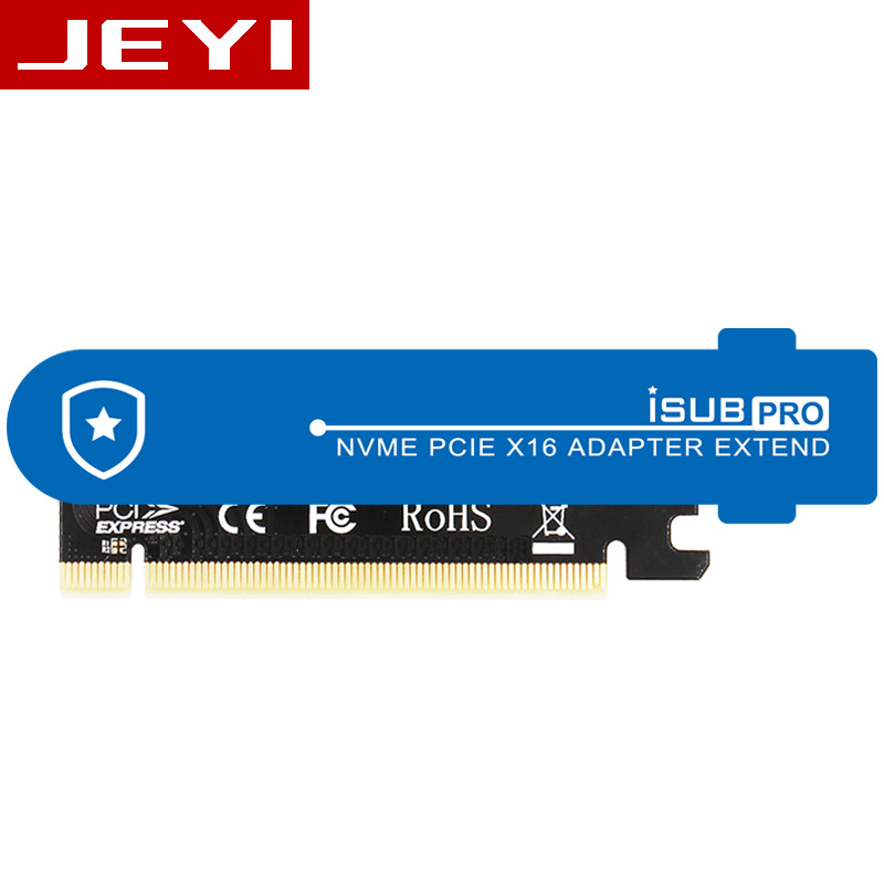 JEYI iSUB PCIE3.0 NVME Adapter x16 PCI-E Full Speed M.2 2280 aluminum sheet Thermal conductivity silicon wafer cooling 1