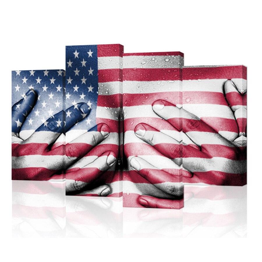 Kufwkey broderie diamant complet, drapeau des USA 5d bricolage diamant peinture point de croix plein forage strass mosaïque multi-image
