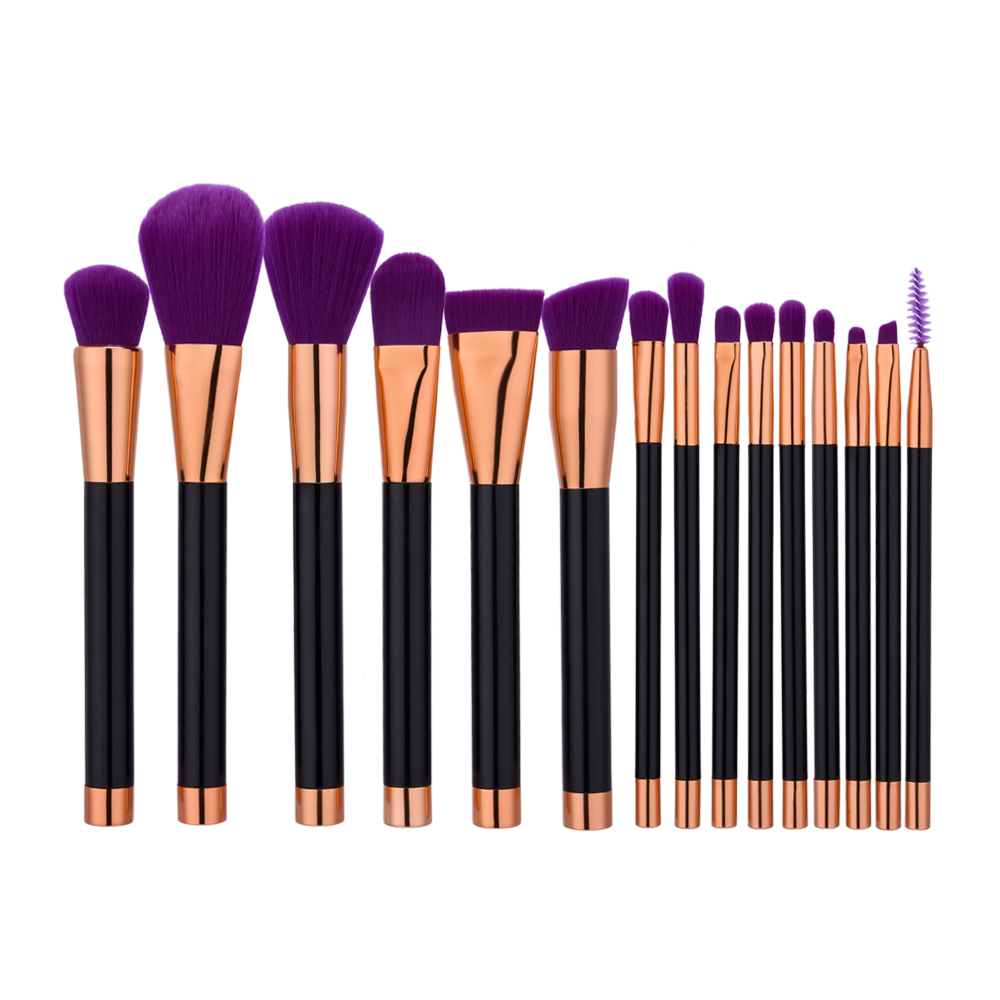 цена на 15pcs/set Unicorn Makeup brushes set professional eyebrow Blush foundation soft hair brush pen Eyeshadow Cosmetics tool