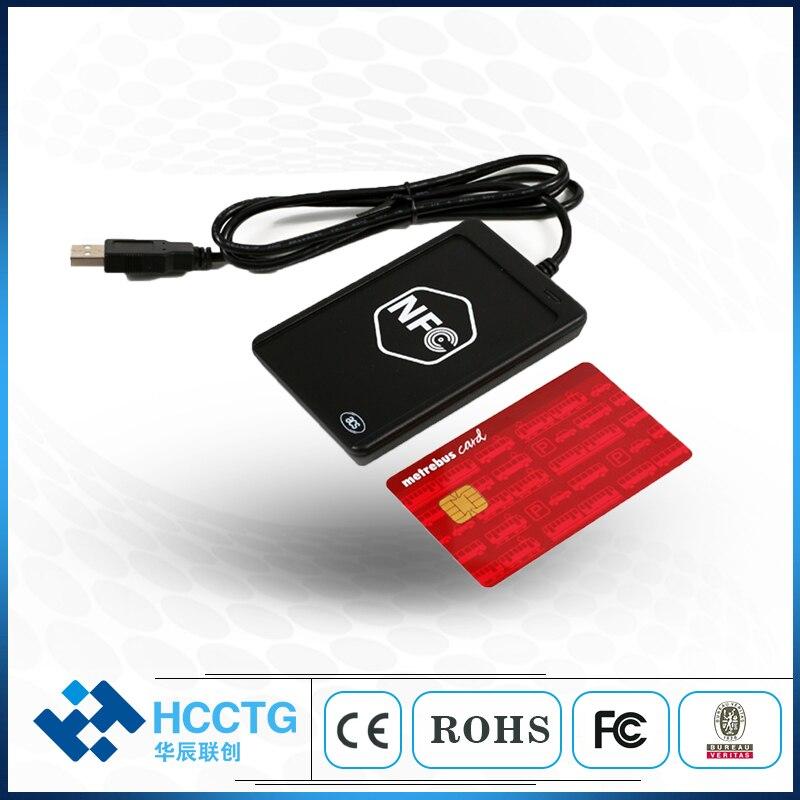 ISO14443 ISO/IEC18092 13,56 mhz tarjeta inteligente sin contacto lector y escritor con ranura SAM NFC lector/escritor y tarjeta emulación de ACR1251U
