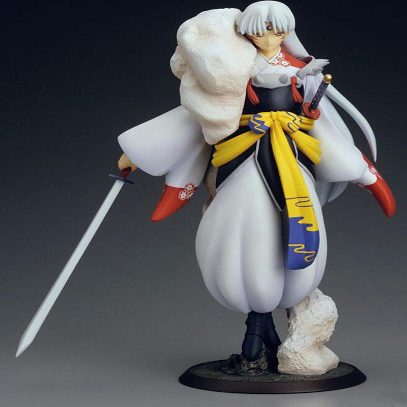 Inuyasha Sesshoumaru collection anime figure 1/8 scale 23cm anime peripheral cartoon decoration model action toy with box Y7397