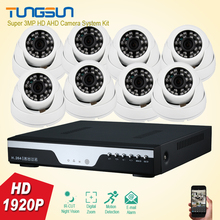 Home Super 3MP Full HD 8 Channel 1920P Security Camera System indoor white Dome Security Camera 8CH DVR CCTV System Kit