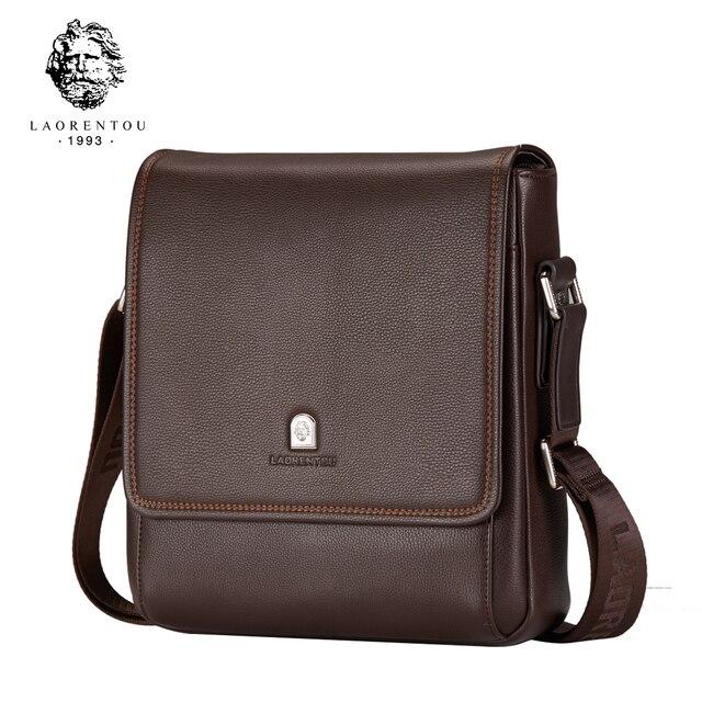Laorentou Марка Новое поступление кожа Сумки на плечо для Для мужчин Бизнес Crossbody сумка Для мужчин Дорожная сумка