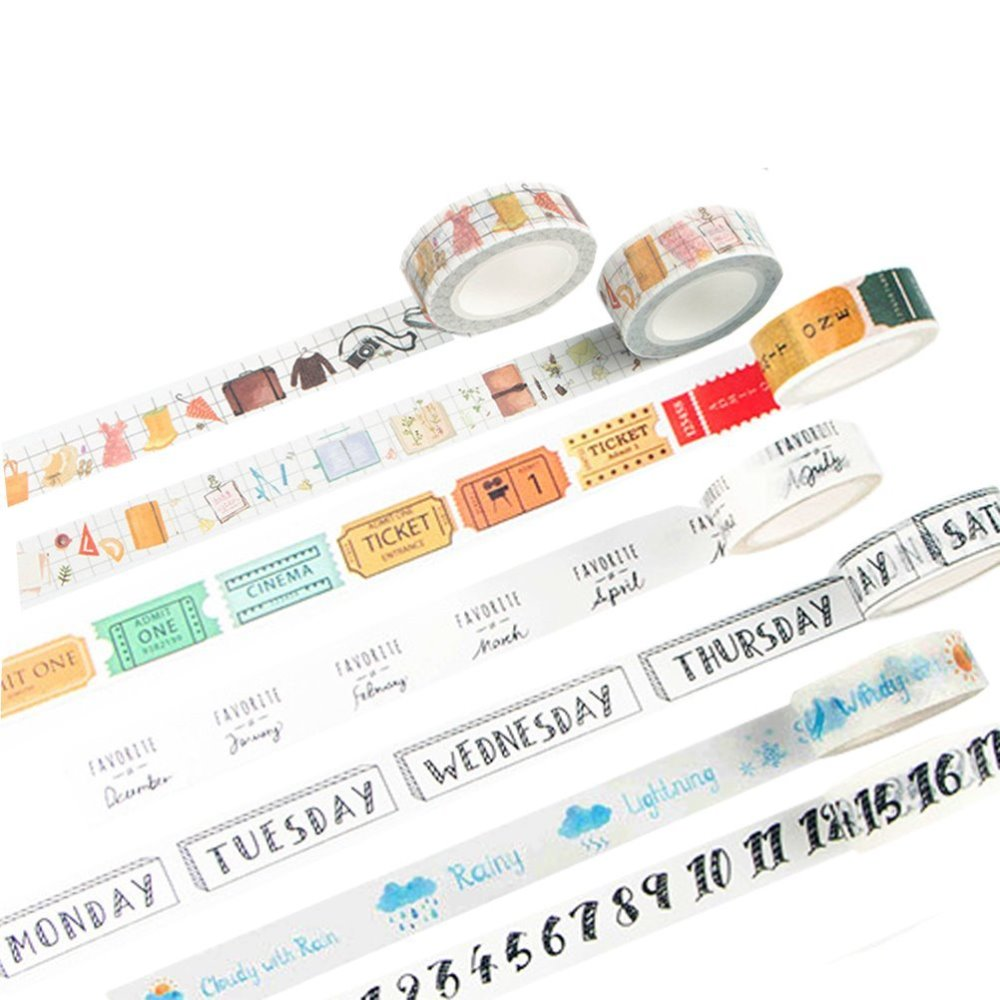 Cute Tags Paper Washi Tape Decorative Adhesive Tape DIY Scrapbooking Sticker Label Masking Craft Tape