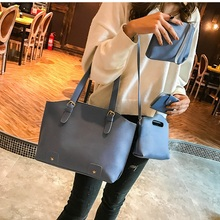 Miyahouse 4PCS/SET Luxury Female Shoulder Bag Solid Color Messenger Bag For Women PU Leather Fashion Crossbody Bag For Female