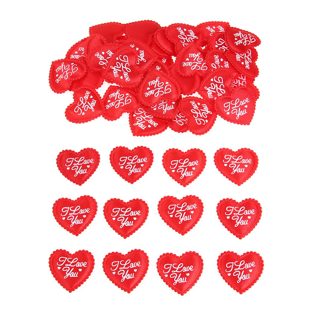 100pcs Sponge Red Heart Wedding Party Confetti 65 X 65mm Table Decoration Birthday Decorative Supplies Christmas Gift