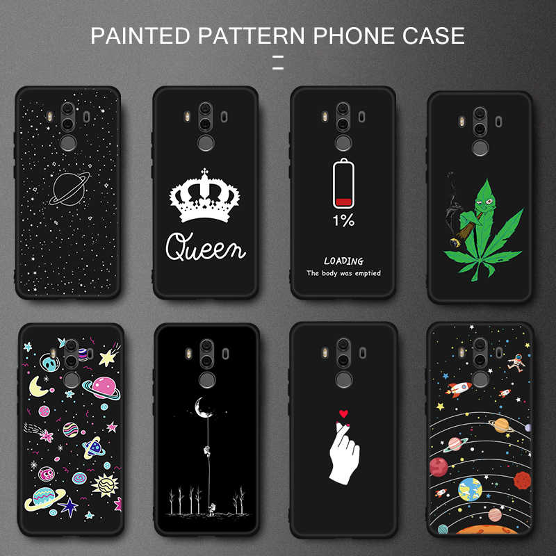 GerTong Case For Huawei Honor 9i 8 P8 Lite P9 P10 P20 Pro Mate 10 Lite Nova 2i Letter Queen Back Cover Love Heart Soft TPU Cases