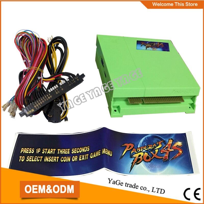 все цены на  Pandora Box 680 in 1 Jamma Mutli Game Board Arcade Mutligame PCB VGA HDMI box 4S with jamma wire Harness for DIY Arcade parts  онлайн