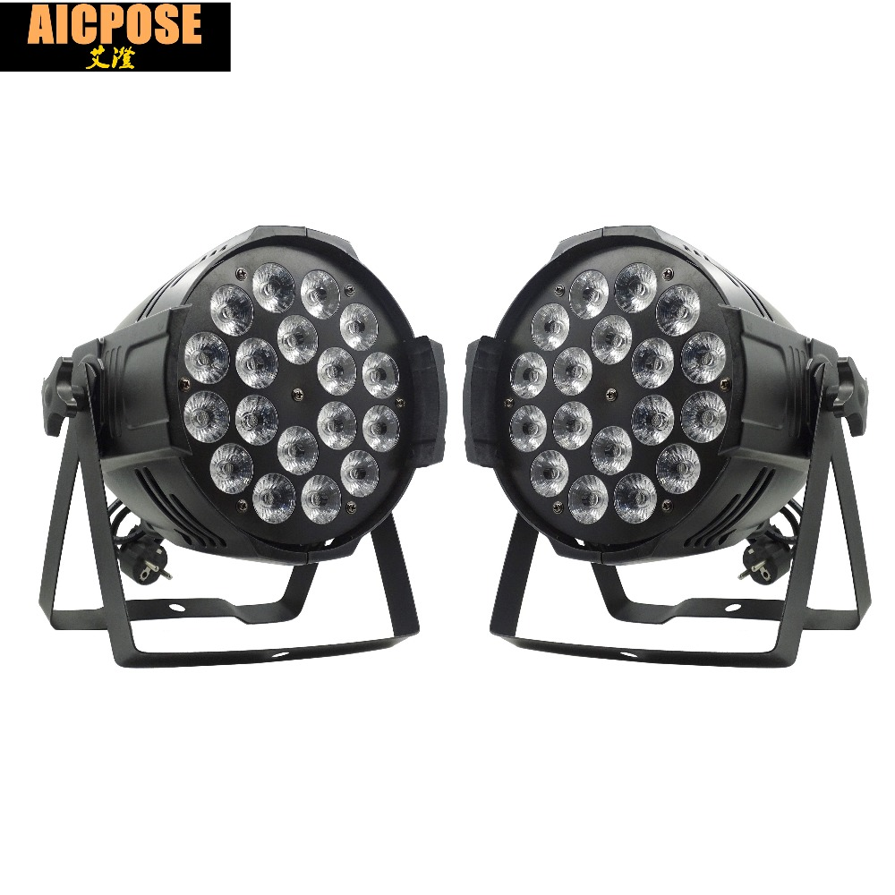 2pcs/lots 18*12w Light Aluminum LED Par 18x12W RGBW 4in1 LED Par Can Par 64 led spotlight dj projector wash lighting stage light