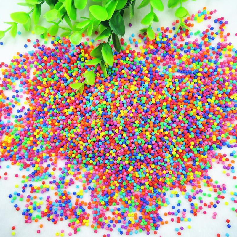 Wholesale Jewlery Making Diy Beads Free Shipping To Suit The PeopleS Convenience Symbol Of The Brand Hot New 3mm/4mm/5mm Mixed Colors Acrylic Fluorescent Neon Spacer Beads Beads & Jewelry Making