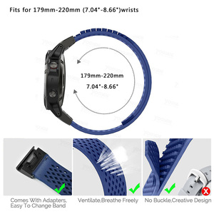 Image 4 - YOOSIDE No buckle Design 26mm Quick Fit Replacement Soft Silicone Sport large Watch Band Strap for Garmin Fenix 5X/3/3HR