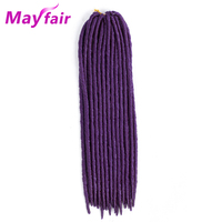 MAYFAIR 18Inch 6pcs Faux Locs Crochet Hair Braids Synthetic Straight Faux Locs Braiding Hair High Temperature Fiber 24roots/Pack