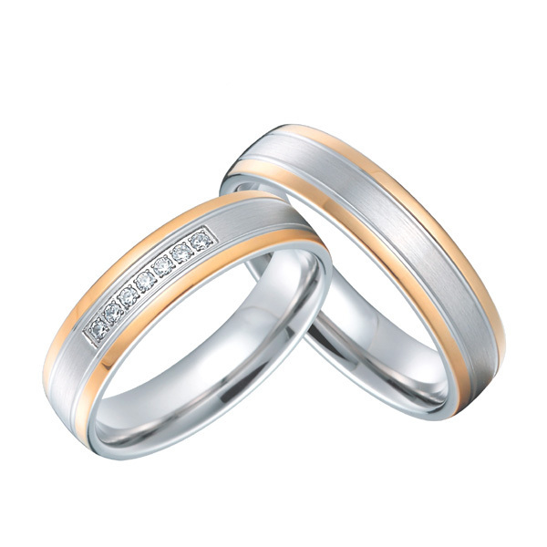 Best Anniversary Gift Rose Gold Color Anium Jewelry Custom Western Wedding Rings Sets For S