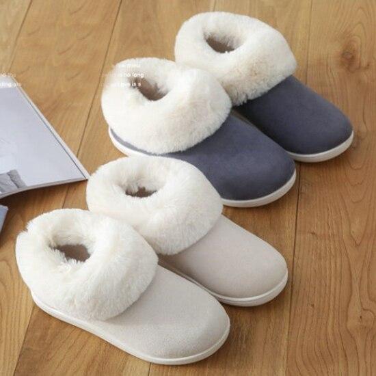 191de11d1ab Women Boots Faux Suede Snow Boots couple Anti-Slip Indoor Home Shoes Fur  Furry Ankle Boots Thick Winter Warm Plush Booties