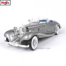 Maisto 1:18 1936 Mercedes 500K TYP Alloy Retro Car Model Classic Decoration Collection gift