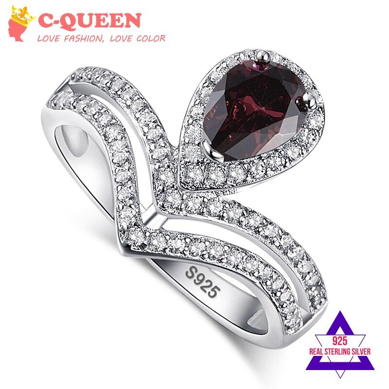 Online Buy Wholesale garnet wedding ring set from China garnet