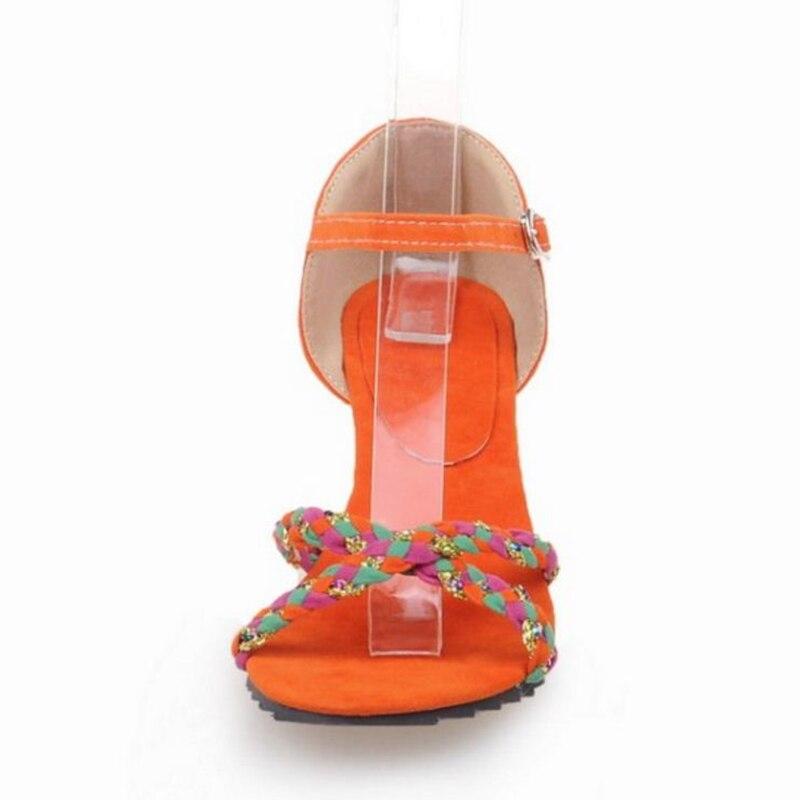 Calzado Punta Club Señoras Tamaño Planas Moda Taoffen 43 azul orange Abierta Hebilla Mezclado cerise Sandalias Coreana Zapatos Verano Las De Color Mujeres Beige 33 Fiesta FRHHYxwC