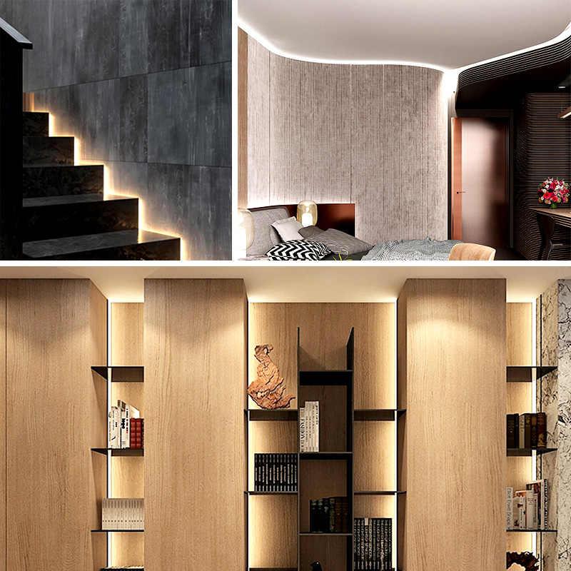 2835 LED Strip 12 V Tahan Air Putih Hangat Putih Merah Biru Hijau RGB Rumah Dekorasi Lampu Strip Dekorasi Ruang Tamu