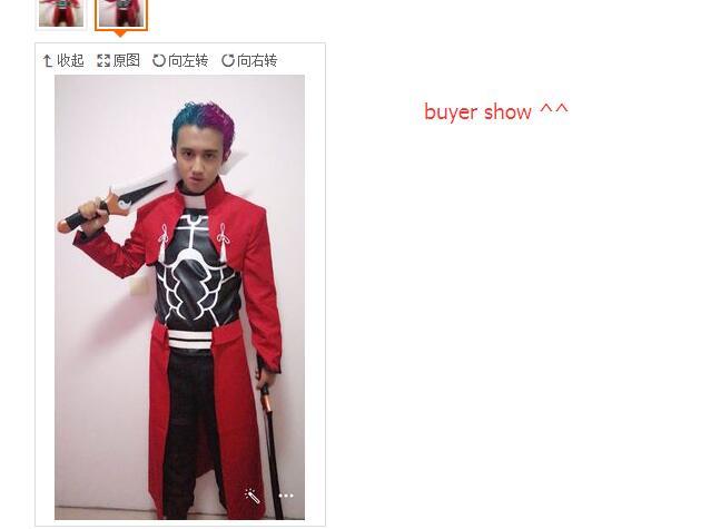 EMIYA cosplay Fate stay night cosplay costume archer red A emiya cosplay costume Uniform oufit fell set 6