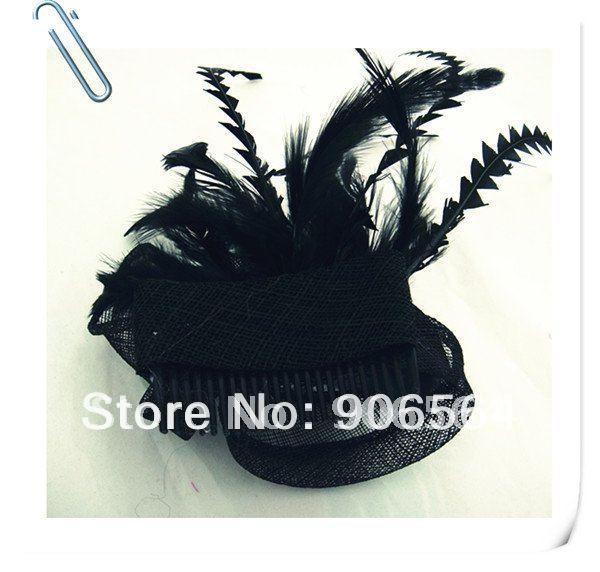 Элегантные шляпки из соломки синамей с вуалеткой хорошее Свадебные шляпы высокого качества черного цвета Клубная кепка очень хорошее 17 цветов MSF099