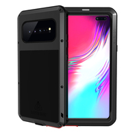 Global 360 Full Shockproof Metal Cover for Samsung Galaxy S10 5g Case Aluminum Soft Silicone Tempered Glass Hybrid Phone Cases