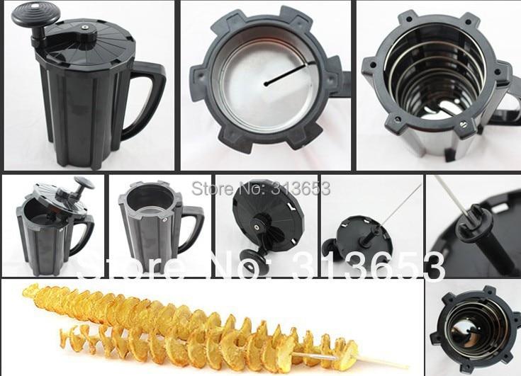 GZZT Elektro Tornado Kartoffel Spiral Cutter Edelstahl Spirale Kartoffel Slicer Kartoffel Turm, Der Twist Schredder - 4