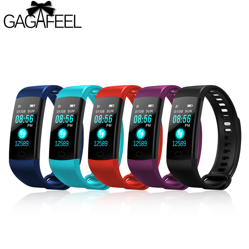 Gagafeel Y5 deportes pulsera inteligente para los hombres pantalla a Color pulsera inteligente Monitor de ritmo cardíaco rastreador de ejercicios para IOS Android