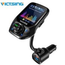 Adaptador de Rádio Do Carro Do Bluetooth Transmissor FM Handsfree Chamando VicTsing 3 Porta USB com QC3.0 Carga Rápida Módulo Transmissor FM