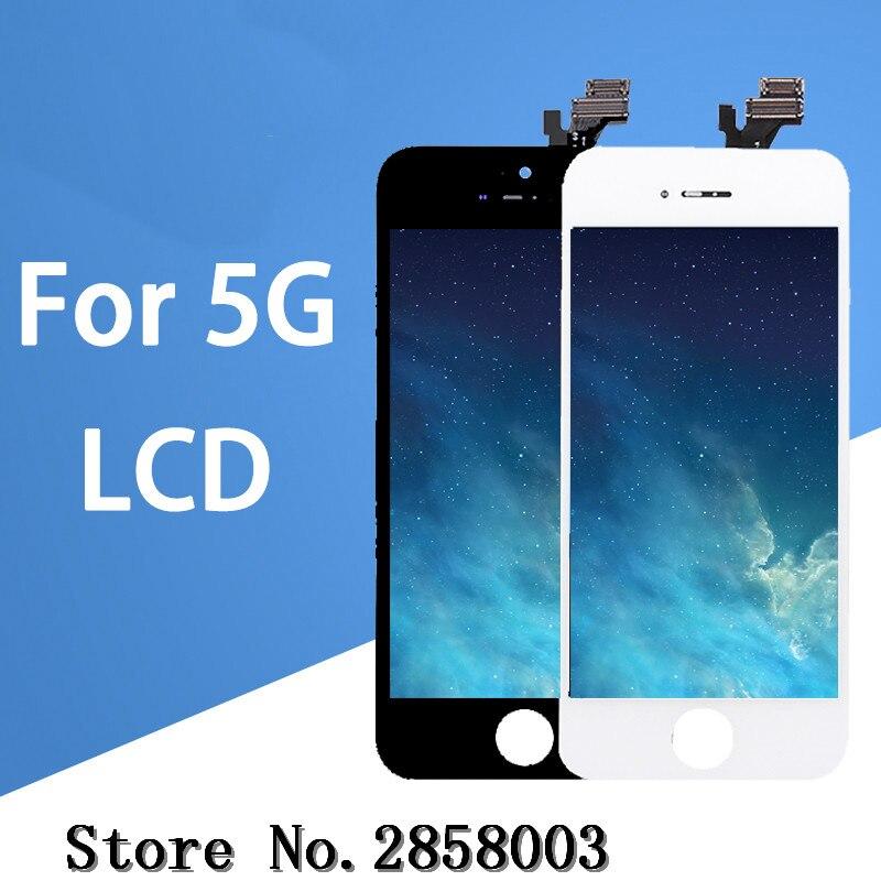 5 шт./лот 100% Класс AAA Фирменная Новинка для iPhone 5 5G ЖК-дисплей Дисплей сенсорный экран с запасные части для дигитайзера части Бесплатная доста...