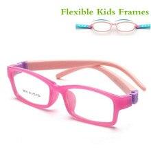 Гибкие без винтов детские очки с рамкой для мальчиков детские очки гибкие детские оправы очки TR90 Оптическое стекло 8816 для 5-10 лет