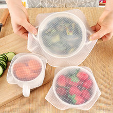 Fresh-keeping Lid Reusable Silicone Bowl Cover Food Wrap Seal Vacuum Lid Stretch Multi-functional Food Fresh Keeping Kitchen(China)