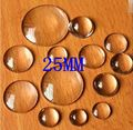 Free Shipping Wholesale 50Pcs/Lot 25MM Clear Glass Cover Round Cabochons Tone Cameo Jewelry Findings